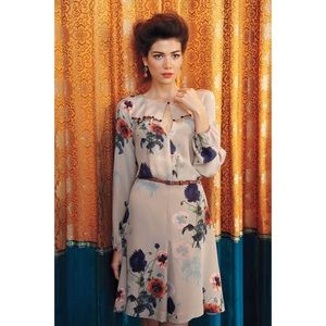 Leifsdottir Ottoman Poppies silk dress